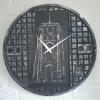 Putdekselklok Leeuwarden zilver zwart 700×700