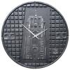 Putdekselklok Leeuwarden zwart met zilver